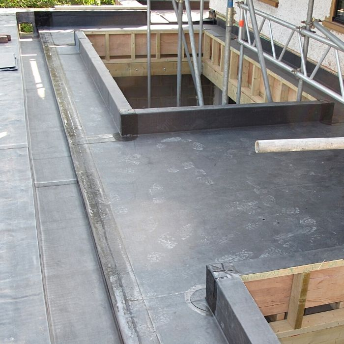 Ongoing building wotk to roof skylights.